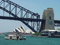 """3 símbolos de Sydney: la Opera, la """"percha"""", y el ferrie"""