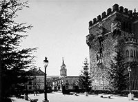 Alcalá de Henares. Torreón arzobispal h.1940