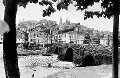 Betanzos. El puente sobre el río Mandeo
