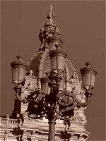 Detalle del Ayuntamiento. A Coruña. España