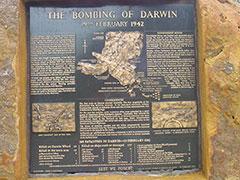 Placa commemorativa del bombardeo de los japoneses