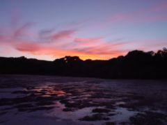 La puesta de sol en Lucky Bay, sin comentarios
