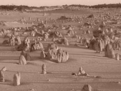 El dramático paisaje del desierto de los Pináculos