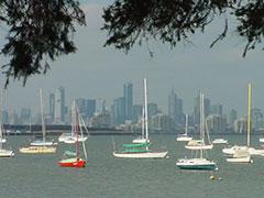 Vista de Melbourne desde St.Kilda