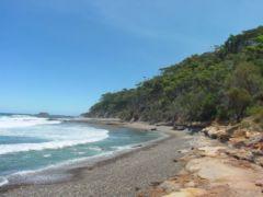(Largo) camino a Pebbly beach