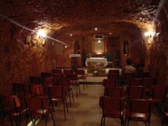 Iglesia subterránea en Coober Pedy