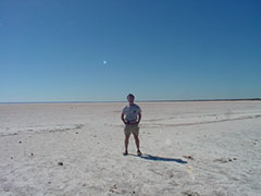 Lago salado en el Outback