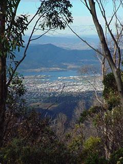 Hobart desde la cima del monte Wellington