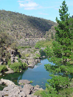 La reserva Gorge, a sólo 10 minutos caminando de Launceston