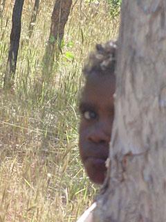 Niña aborigen del Territorio del Norte