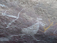 Arte rupestre aborigen en Kakadu