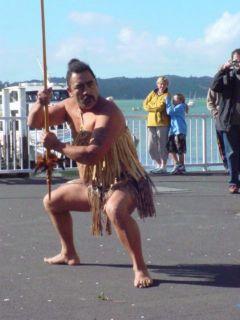 Un amenazador gesto maorí