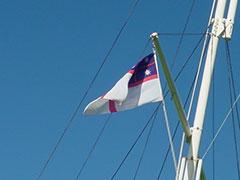 La primera bandera de Nueva Zelanda