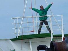 Exultante por estar camino de la Antártida