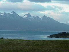 Las hermosas montañas que rodean Ushuaia.