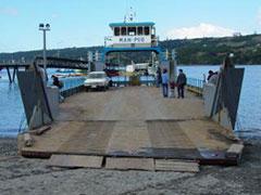 Así se llega a Chiloé y se navega entre islas.
