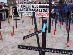 Las cruces representan la muerte del mar