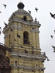 Iglesia de San Francisco con miles de palomas