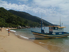 Playa de Pouso y trainera