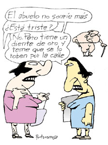 Al menos no pierden el humor (extraído de Clarín, 1/2/03)