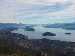 La vista desde el cerro Otto.