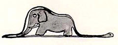 .... pero como lo esencial no se ve con los ojos, otros ven un elefante tragado por una boa