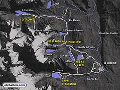 Mapa de senderos de la zona