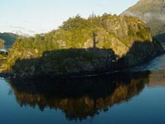 La sombra del Magallanes, muy cerca del islote