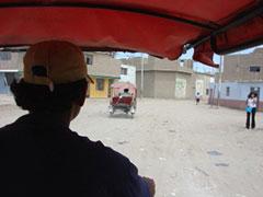 En moto taxi