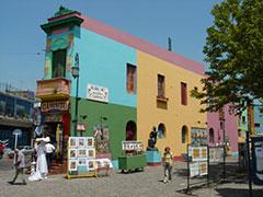 Casas multicolores en la Boca