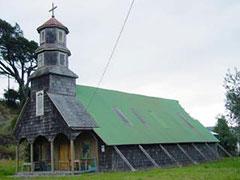 La iglesia de Huillinco, una de las más hermosas