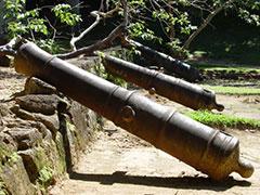 Los cañones del Fuerte del Morro