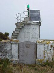 El faro Monteagudo en las islas Cíes, Galicia