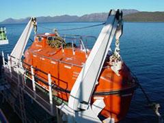 Lanchas salvamento de última generación en el Magallanes