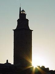 La Torre de Hércules de A Coruña, en un día claro