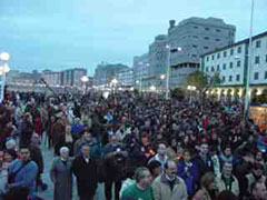 Una manifestación masiva