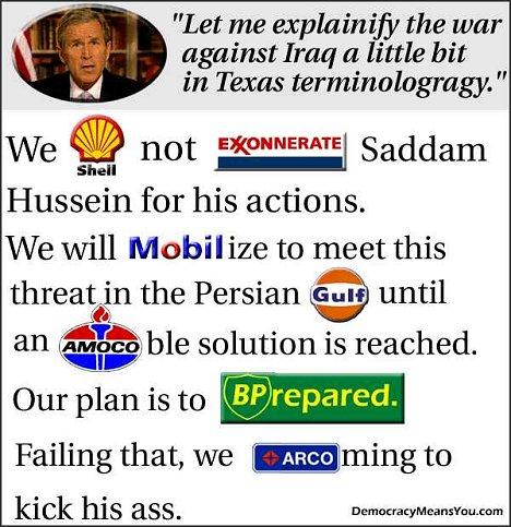 Las verdaderas razones de la guerra de Irak