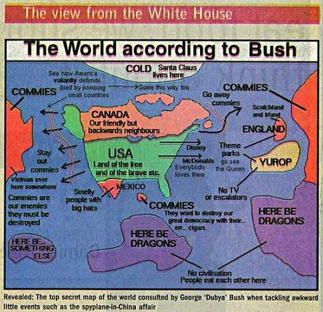 El mundo es así de simple para el coeficiente intelectual de Bush