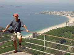 Vista de Copacabana desde el Pao de Azucar.