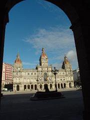 Plaza de María Pita y ayuntamiento