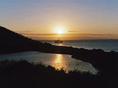 Poco antes de ver el Rayo Verde en Galapagos