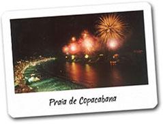La postal de fin de año en Copacabana