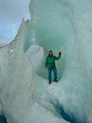 La caminata en hielo sobre el glaciar Grey