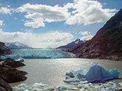 Increíble vista del glaciar Grey