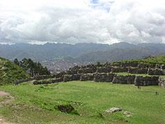 Sacsayhuaman y al fondo Cuzco