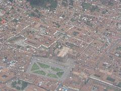 Vista aérea de Cusco