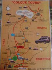 Mapa del salar Uyuni