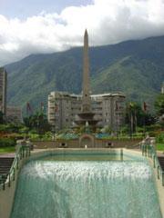 La Plaza de la Libertad en Caracas, oficialmente plaza de Francia