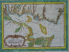 Mapa antiguo del estuario del Río de la Plata.