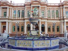 La fuente de cerámica de Talavera en Porto Alegre.